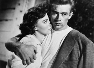 James Dean and Natlie Wood
